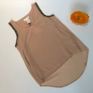 MM Couture Miss ME Tan Sleeveless Tan Blouse